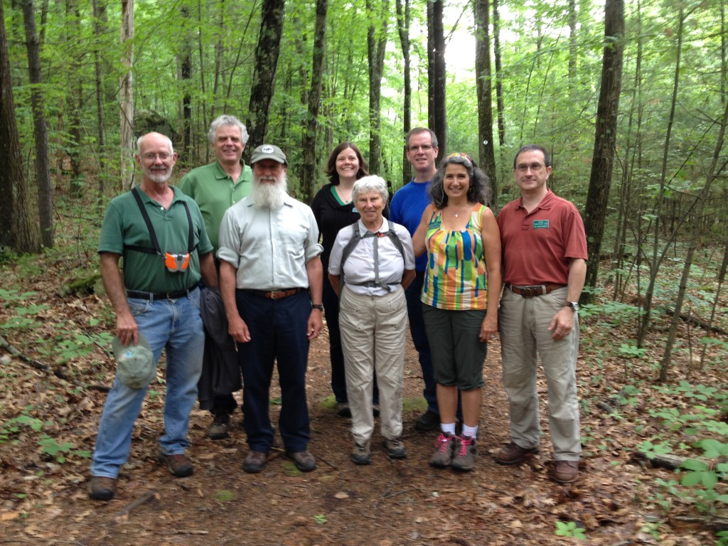 Tom Wessels with GCT Trustees and Marion Stoddard
