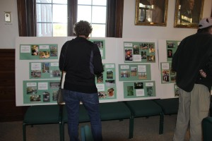 Pictures and history of the 37 GCT properties were on display.