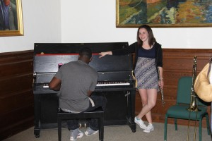 Lively music was provided by Calli Scofifio '14 and Cornelius Griffith '14 from Lawrence Academy.
