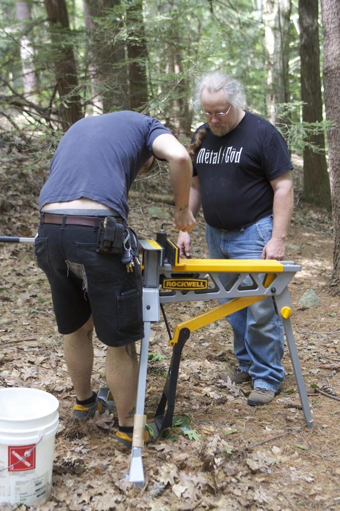 Joseph and Ken repairing the Hammer Mount.