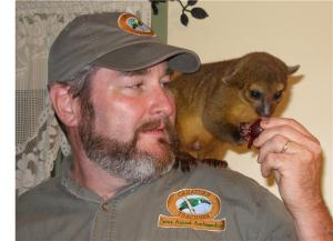 Rick and a Kinkajou